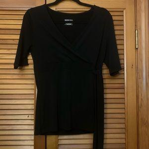 3/$20 Merona Black Blouse w/ side tie | Medium